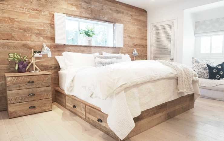 Reclaimed wood bedroom